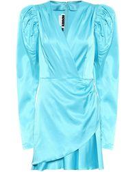 ROTATE BIRGER CHRISTENSEN Vestido corto Aiken de satén - Azul