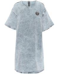 MM6 by Maison Martin Margiela Acid-wash Denim Dress - Blue