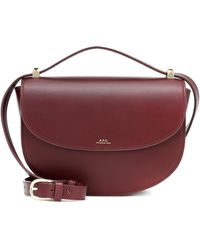 A.P.C. Genève Leather Shoulder Bag - Red