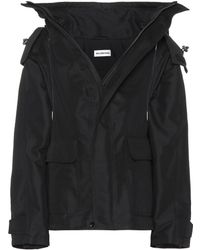 8b98c8f209aed Lyst - Balenciaga Shearling And Leather Reversible Jacket in Black