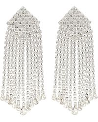 Alessandra Rich Crystal-embellished Clip-on Earrings - Metallic