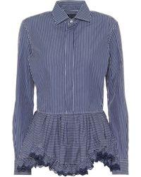 Polo Ralph Lauren Striped Cotton Blouse - Blue