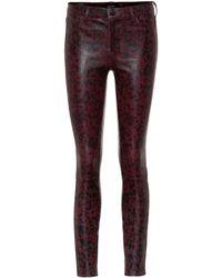 J Brand - Pantalones L8001 de piel skinny - Lyst