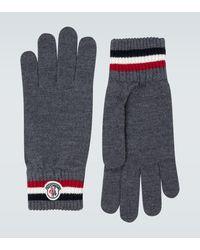 Moncler Guantes de lana acanalados - Gris
