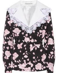 Alessandra Rich - Floral-printed Faille Jacket - Lyst