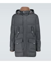 Brunello Cucinelli Down-filled Parka - Grey