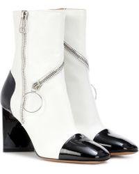 Maison Margiela - Ankle Boots aus Leder - Lyst