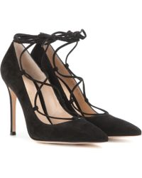 Gianvito Rossi - Femì Lace-up Suede Pumps - Lyst