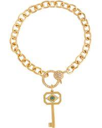 Ileana Makri Armband Eye Key aus 14kt Gold mit Diamanten - Mettallic
