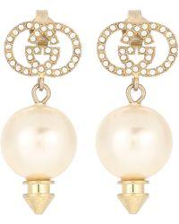 Gucci Ohrringe mit Kristallen - Weiß
