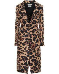 Bottega Veneta Leopard-Jacquard-Einreiher Damen Leopard - Mehrfarbig