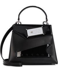 Maison Margiela Snatched Small Leather Shoulder Bag - Black