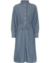 Tory Burch Chambray Shirt Dress - Blue