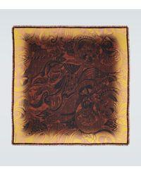 Dries Van Noten Pañuelo de seda con estampado - Multicolor