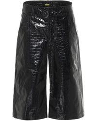 Dodo Bar Or High-Rise-Shorts aus Leder - Schwarz