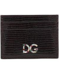 Dolce & Gabbana Portacarte in pelle stampata - Nero