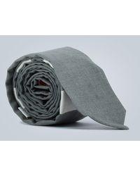 Thom Browne Krawatte 4-Bar aus Wolle - Grau