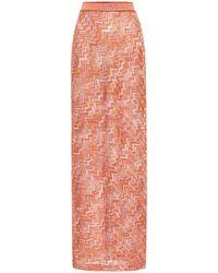 Missoni Crochet Knit Maxi Skirt - Orange