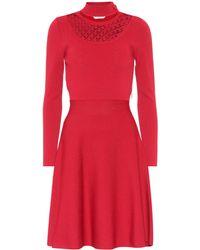 Fendi Minikleid aus Stretch-Jersey - Rot