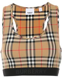 Burberry Check Sports Bra - Multicolour