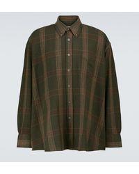 Our Legacy Camicia Borrowed in misto lana - Verde