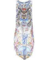 Camilla Printed Silk Top - Multicolor