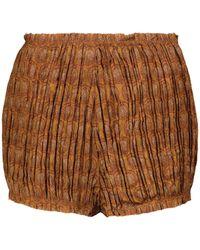 Khaite Shorts Hilary a vita alta - Arancione
