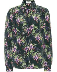 Givenchy - Chain-trimmed Floral Silk Shirt - Lyst