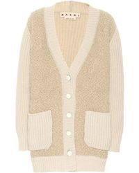Marni Cashmere-blend Cardigan - Natural