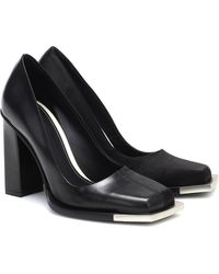 Peter Do Square Toe Leather Pumps - Black