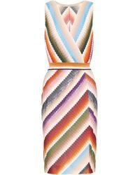 Missoni Vestido corto de punto - Multicolor