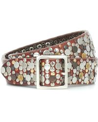 Golden Goose Deluxe Brand Studded Leather Belt - Brown
