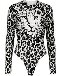 Alex Perry Body Archer con print de leopardo - Negro
