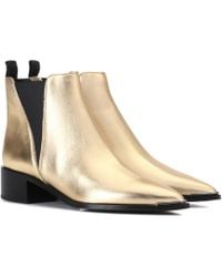 Acne Studios - Jensen Metallic Leather Ankle Boots - Lyst