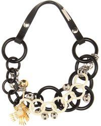 Marni Halskette mit Verzierungen - Schwarz
