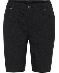 RTA Toure Stretch-denim Skinny Shorts - Black