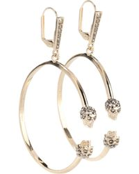 Alexander McQueen - Skull Swarovski Earrings - Lyst
