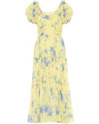 LoveShackFancy Emory Cotton And Silk Maxi Dress - Yellow