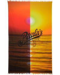 Loewe Paula's Ibiza Schal aus Baumwolle - Gelb