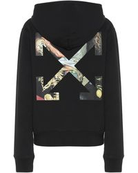 Off-White c/o Virgil Abloh Hoodie Pascal Arrows aus Baumwolle - Schwarz