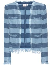 AG Jeans - The Capucine Striped Cotton Jacket - Lyst