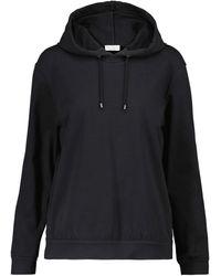 Brunello Cucinelli Sweat-shirt en coton à capuche - Noir