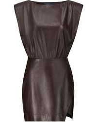 Zeynep Arcay Robe en cuir - Multicolore
