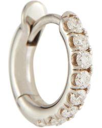 Spinelli Kilcollin Mini Micro Hoop Pavé 18kt White Gold And Diamond Earring