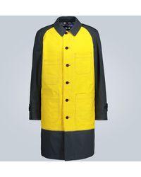 Junya Watanabe Longline Moleskin Chore Jacket - Yellow