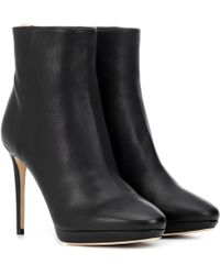 Jimmy Choo Harvey 100 Leather Ankle Boots - Black