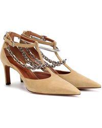 Altuzarra Chain-trimmed Suede Court Shoes - Natural
