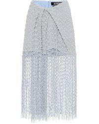 Jacquemus Jupe Capri en coton et lin mélangés - Bleu