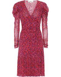 Diane von Furstenberg Robe midi Alyssa imprimée - Rouge