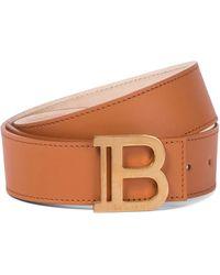 Balmain Cinturón B-Belt de piel - Marrón